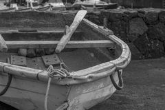 Old boats. In El Cothillo harbor Stock Photography