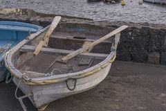 Old boats. In El Cothillo harbor Royalty Free Stock Photo
