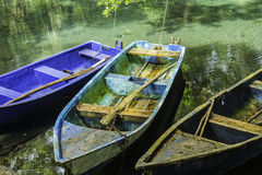 Old Boats in a Lagoon Stock Photos
