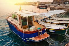 Old boats in Monterosso. Cinque Terre, Italy Stock Photography