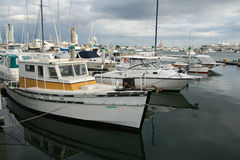 Old Boats And New Boats Royalty Free Stock Photography