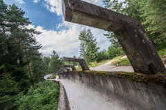 Old bobsleigh track Royalty Free Stock Images