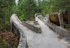 Old bobsleigh track Stock Photo