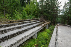 Old bobsleigh track Stock Photography