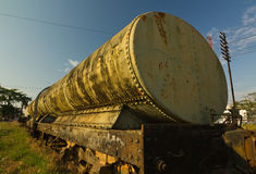Old Bogie Oil Tank Wagon (BOT.) Royalty Free Stock Image