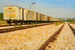 Old bogie train and railway. Stock Photography