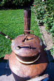 Old boiler brandy distillery Royalty Free Stock Photos