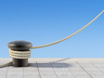 Free Old Bollard With The Rope Stock Image - 24998361