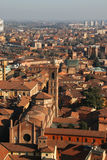 Old Bologna, Basilica Santo Stefano. Italy. Panorama of old Bologna, Italy Stock Images