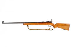 Old bolt action rifle isolated Royalty Free Stock Photo