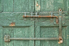 Old bolt and lock Stock Image