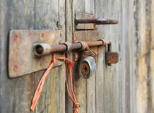Free Old Bolt With Lock Stock Photo - 107894480