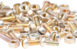 Old bolts and nuts Royalty Free Stock Photography
