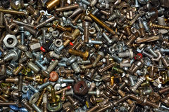 Old bolts and nuts Royalty Free Stock Photo