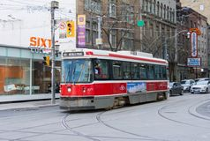 Old Bombardier Streetcar in Toronto Royalty Free Stock Photo