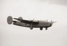 Old bomber Royalty Free Stock Photo