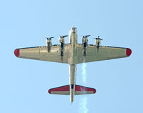 Old bomber in flight Stock Photography
