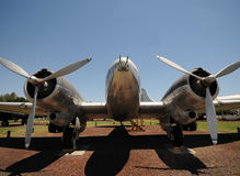 Old bomber front view Royalty Free Stock Images
