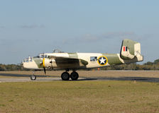 Old bomber taxiing Royalty Free Stock Photography
