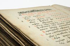 Old book. Very old prayer-book Stock Photos