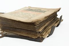 Old book. Very old prayer-book Royalty Free Stock Photo