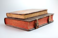 Old book. Antique book on white Royalty Free Stock Photo
