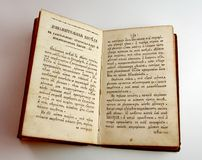 Old book. Antique book on white royalty free stock photos
