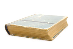 Old book. Oldest book - may be bible - on a white background stock photography