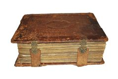 Old book. The old book on the white background Stock Image