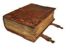 Old book. The old book on the white background Royalty Free Stock Image