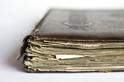 Old book. On white background Royalty Free Stock Photos
