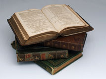 Old Book. Pile of four antique books Royalty Free Stock Photography