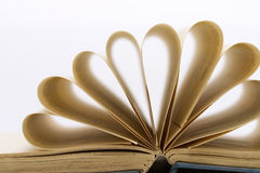 Old book. Opened old book on white background Royalty Free Stock Photo