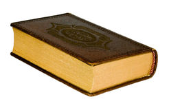 The old book. With leather cover Stock Photo