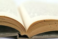 Old book. On white background Royalty Free Stock Images