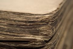 Old book. With shabby sheets of paper Royalty Free Stock Image
