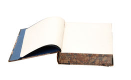 Old book. Open. Isolated on white Royalty Free Stock Photos