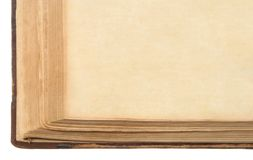 Old book. Very old book with yellowed papers Royalty Free Stock Photos