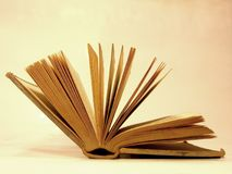 Old book. Reading Royalty Free Stock Photos