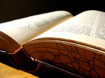 Old Book. An ancient book that is too seldom read Royalty Free Stock Photo