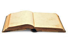 Old book. The old open book which is located on a white background Stock Photography
