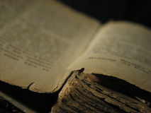 Old book. Book isolated over a black background Royalty Free Stock Images
