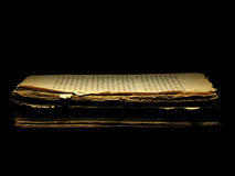 Old book. Book isolated over a black background Royalty Free Stock Photos