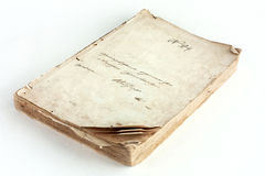 Old book. On white background Royalty Free Stock Photo