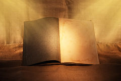 Old book in ambient light. Old book in evening ambient light royalty free stock photos