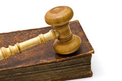 Old Book And Gavel Stock Image