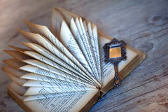 Old Book And Mirror Royalty Free Stock Photo