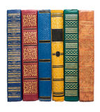 Old book backs isolated Royalty Free Stock Photo