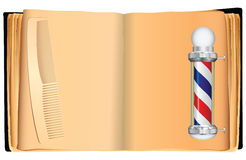 Old book barber Stock Images