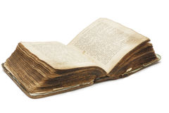 Old book (Bible). On white background royalty free stock photo